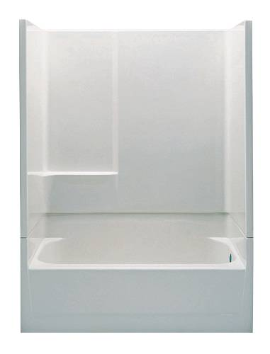 PLUMBING HVAC PRODUCTS LLC LASCO 2 PC FIBERGLASS TUB SHOWER UNIT 54 Q